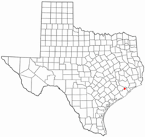 Location of Iowa Colony, Texas