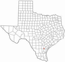 Location of Mathis, Texas