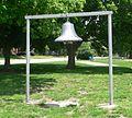 Table Rock, NE public square park bell.JPG