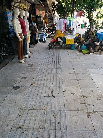 Tactile paving - Tactile paving in Vietnam.