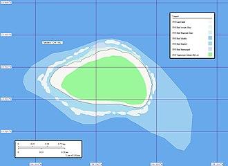 Takutea - Map of Takutea