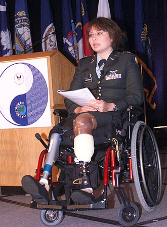 Tammy Duckworth - Duckworth narrates the Salute to Fallen Asian Pacific Islander Heroes in Arlington, Virginia, June 2, 2005.