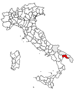 Location of Province of Taranto