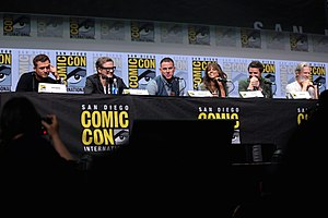 Kingsman: The Golden Circle - The cast of Kingsman: The Golden Circle at the 2017 San Diego Comic-Con