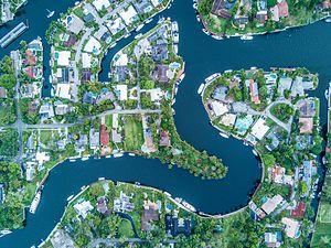 Tarpon River Neighborhood in Fort Lauderdale, Florida