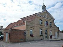Tatinghem (Pas-de-Calais, Fr) mairie.JPG