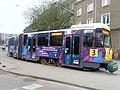 Tatra KT4Dt w reklamie VIII Mistrzostw Europy w Gimnastyce Sportowej.jpg