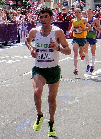 Algeria at the 2012 Summer Olympics - Tayeb Filali failed to finish the men's marathon.
