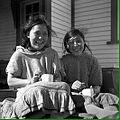 Teatime for Paulette Annegoluk and Mille Appatok - Inuit - Kugluktuk Nunavut 1935.jpg
