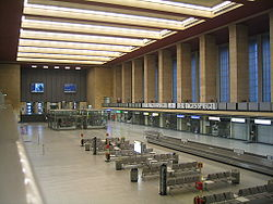 Interior of Tempelhof - almost deserted as of 2006.
