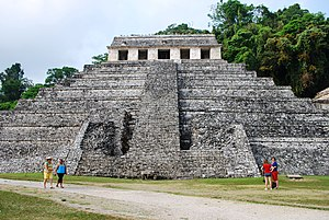 Temple of the Inscriptions at Palenque, Chiapa...