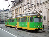Temporary tram line 22 in Poznan (4).JPG