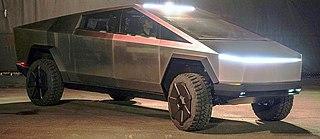 Tesla Cybertruck Electric pick-up truck developed by Tesla Motors