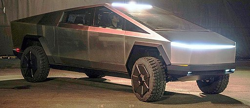 Tesla Cybertruck outside unveil modified by Smnt