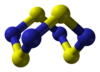 Ball and stick model of tetrasulfur tetranitride