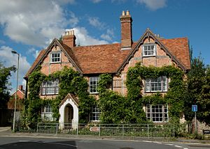 Thame - Stribblehills, a 17th-century timber-framed house with brick nogging