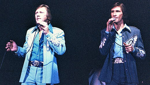 The Righteous Brothers, one of the early artists most closely associated with blue-eyed soul TheRighteousBrothersperformingKBF.jpg