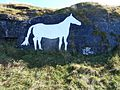 The 7th October 2012 repaint of Cleadon White Horse.jpeg