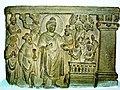The Buddha teaching. Kushan period. National Museum, Delhi. 2004.jpg