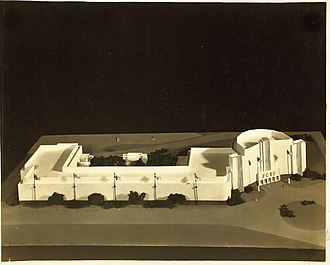 San Diego Air & Space Museum - Scale model of the Ford Building.