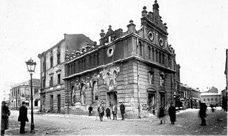 Lwów pogrom (1918) - The Jewish quarter after the pogrom