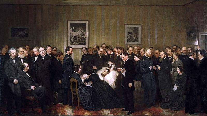 Las últimas horas de Abraham Lincoln, pintura de Alonzo Chappel (1868).