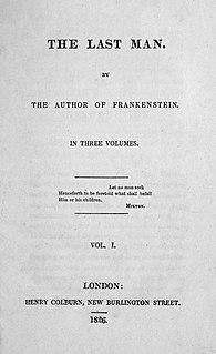 <i>The Last Man</i> 1826 novel by Mary Shelley