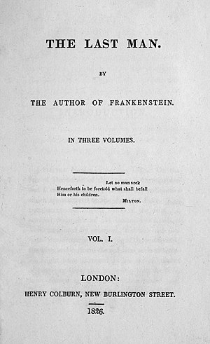 The Last Man - First edition title page
