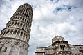 The Leaning Tower of Pisa -leaning towards- Pisa Cathedral (Duomo di Pisa), Piazza dei Miracoli (-Square of Miracles-). Tuscany, Central Italy.jpg