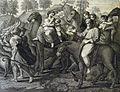 The Phillip Medhurst Picture Torah 159. Jacob's departure. Genesis cap 31 vv 17&21. after Raphael.jpg