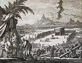 The Phillip Medhurst Picture Torah 495. Building the tabernacle. Exodus cap 40 vv 17-38. Caspar Luyken.jpg