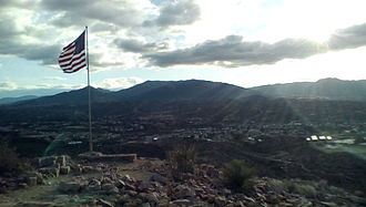 Pinal Mountains - View of the Pinal Mountains from atop Round Mountain north of Globe, Arizona ( facing South )
