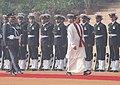 The President of the Democratic Socialist Republic of Sri Lanka, Mr. Mahinda Rajapaksa inspecting the Guard of Honour in New Delhi on December 28, 2005.jpg