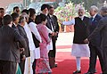 The Prime Minister, Shri Narendra Modi introducing the Prime Minister of Malaysia, Dato' Sri Mohd Najib Bin Tun Abdul Razak to the Indian dignitaries, at the ceremonial reception, at Rashtrapati Bhavan, in New Delhi (1).jpg