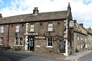 Kirkby Malzeard - The Queens Head in 2008
