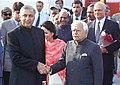 The Union Minister for External Affairs, Shri Natwar Singh with the Prime Minister of Pakistan Mr. Shaukat Aziz in New Delhi on November 23, 2004.jpg