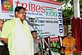 The Union Minister for Tribal Affairs, Shri Jual Oram addressing at the launching ceremony of the 'Festival Offers' to promote Tribal Products and empower Tribal Artisans of the Country, in New Delhi.jpg