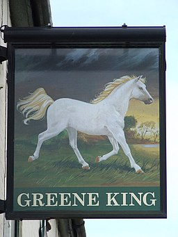 The White Horse Pub Sign - geograph.org.uk - 1181165