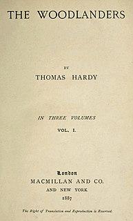 <i>The Woodlanders</i> 1887 novel by Thomas Hardy