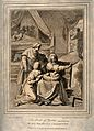 The birth of Pyrrhus, his mother Deidamia (?) recovers in be Wellcome V0015087.jpg