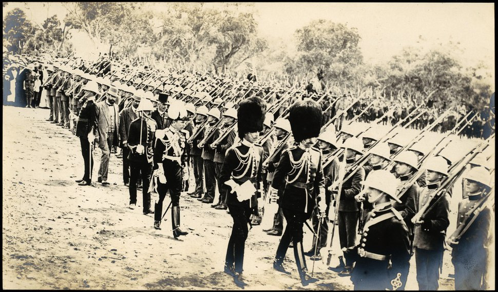The cadets being inspected by the Governor-General 12 March 1913