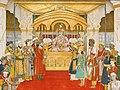 The emperor Akbar Shah II in Durbar by Ghulam Murtaza Khan Musavvir.jpg
