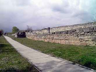 Dion, Pieria - Fortification wall