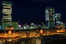 The night view of Tokyo station.JPG