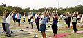 The participants in the mass performance of Common Yoga Protocol, on the occasion of the 4th International Day of Yoga -2018, at Dwarka, in New Delhi on June 21, 2018 (1).JPG