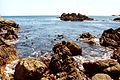 The rocky islet at CT dive site Ankers from entry point.jpg