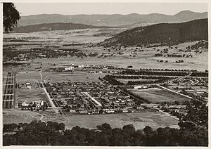 Mount Ainslie - Photograph showing the view from Mount Ainslie, taken in the 1930s by an unknown photographer.