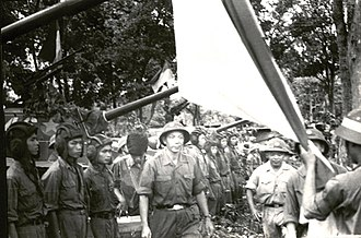 Nguyễn Hữu An - The 2nd Corps commander – Major General Nguyen Huu An and the Le Linh Military Police Commissioner inspects the 203th Tank Brigade before the 1975 Offensive.