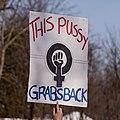 This pussy grabs back -WomensMarch -WomensMarch2018 -SenecaFalls -NY (39097950124).jpg