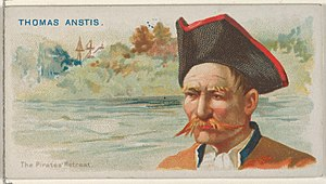 Thomas Anstis - Image: Thomas Anstis, The Pirates' Retreat, from the Pirates of the Spanish Main series (N19) for Allen & Ginter Cigarettes MET DP835042